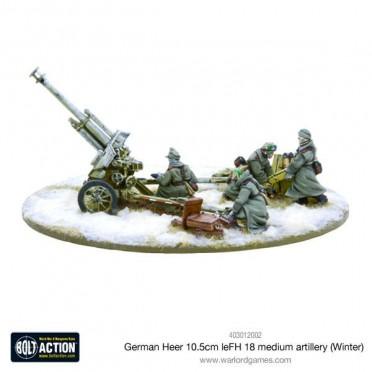 Bolt Action - German Heer 10.5cm leFH 18 Medium Artillery (Winter)