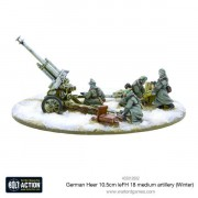 Bolt Action - German Heer 10.5cm leFH 18 Medium Artillery (Winter)