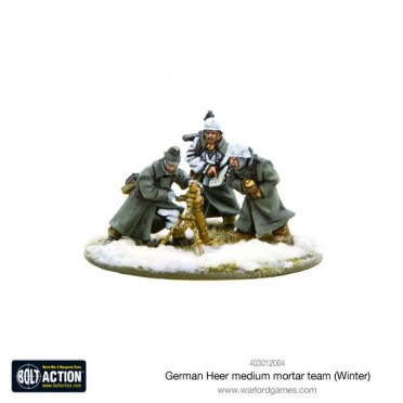 Bolt Action - German Heer Medium Mortar Team (Winter)