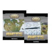 Savage Worlds - Rifts : Map North America & Castle Refuge