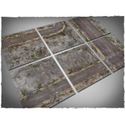 Terrain Tiles Set - Mousepad - Walking Dead City - 120x180