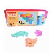Puzzle - Carte de la Belgique - 24 Pièces