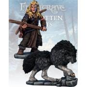 Frostgrave - Chasseur & Chien de Guerre Barbares