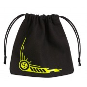 Galactic Black & Yellow Dice Bag pas cher