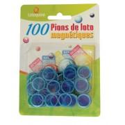 100 Pions de Loto Magnétiques Bleu