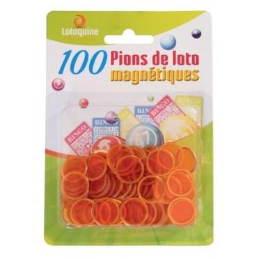 100 Pions de Loto Magnétiques Orange