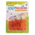 100 Pions de Loto Magnétiques Orange 0