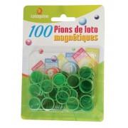100 Pions de Loto Magnétiques Vert