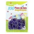 100 Pions de Loto Magnétiques Violet 0