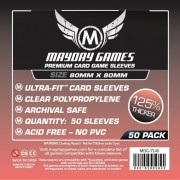 Card Game Sleeves - Medium Square Premium 80x80mm - 50p