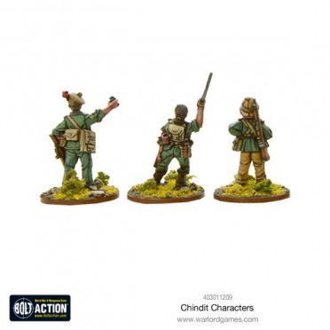 Bolt Action - Chindit characters