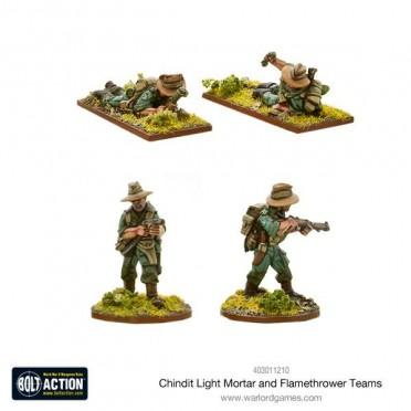 Bolt Action - Chindit Flamethrower & Light Mortar Teams