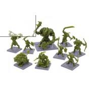 Dungeon Saga : Green Rage Miniature Set