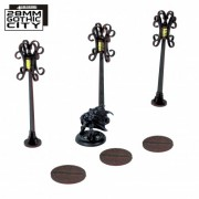 3x Sewer Cover Type B and 3x Lamp Post Type B