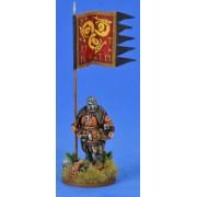 Saga - Bannière de Guerre Saxonne et Porteur