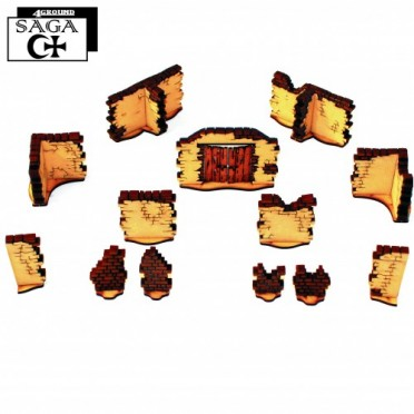 SAGA: Arabic Tall Walls With Large Gate & T Sections