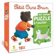 Petit Ours Brun - Mon Premier Puzzle à Toucher : Les animaux