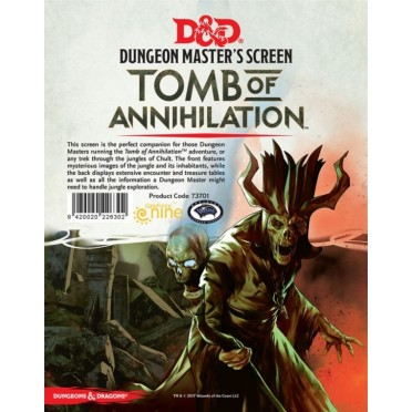 D&D DM Screen - Tomb of Annihilation