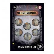 Citadel : Socles - Necromunda 25mm Bases (x10)