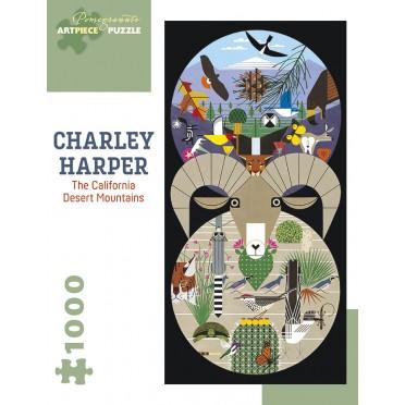 Puzzle - The Califorinia Desert Mountains de Charley Harper - 1000 Pièces