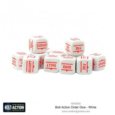 Bolt Action - Bolt Action White Order Dice Pack