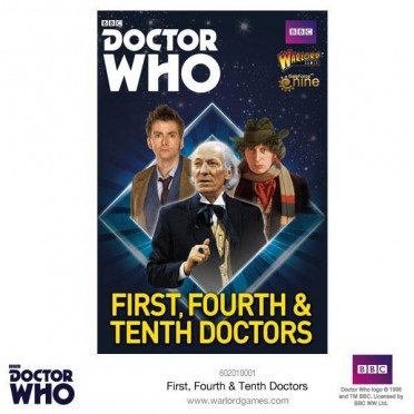 Doctor Who - First, Fourth and Tenth Doctors