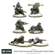Bolt Action - German Heer Panzerschreck, Flamethrower & Sniper Teams (Winter) pas cher