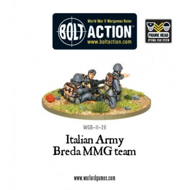 Bolt Action - Italian Army Breda Medium Machine Gun Team