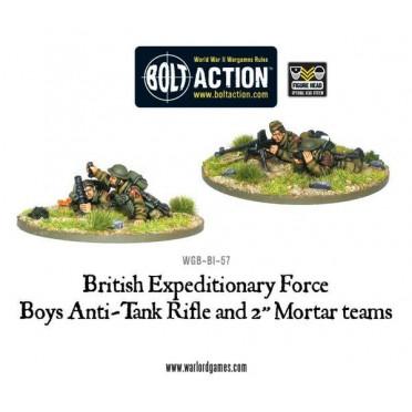 "Bolt Action - Anti-Tank Rifle Team & 2"" Light Mortar Teams"