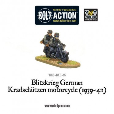 Bolt Action - Blitzkrieg German Kradschützen Motorcycle (1939-42)