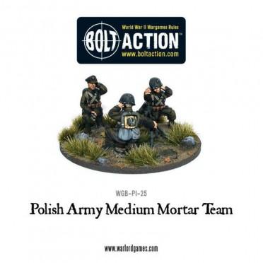 Bolt Action - Polish Army Medium Mortar Team