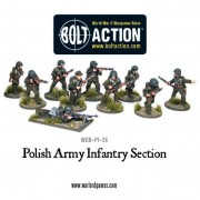 Bolt Action - Polish Army Infantry Section pas cher