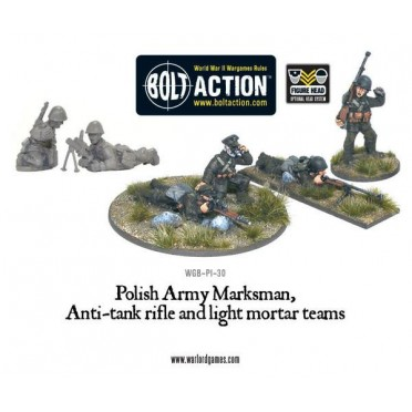 Bolt Action - Polish Army Marksman, Anti-Tank Rifle & Light Mortar Teams