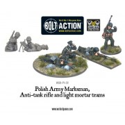 Bolt Action - Polish Army Marksman, Anti-Tank Rifle & Light Mortar Teams pas cher