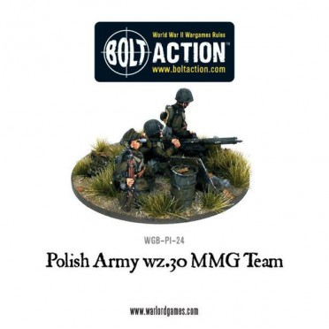 Bolt Action - Polish Army wz30.MMG Team