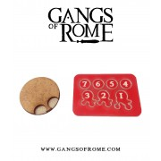 Gangs of Rome - Jigsaw Base & 7 Flesh Markers pas cher