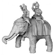 Hellenistic Elephant, with 2 crew, Pike Astride Left pas cher