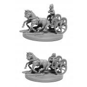 Gallic 2-Horse Chariot w/2 Crew pas cher
