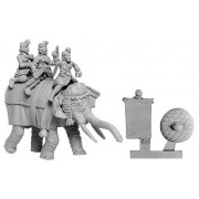 """Indian Elephant """"General"""" with 3 Crew"""