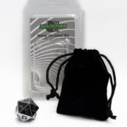 Blackfire Dice - D20 Metal Random