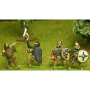 Saxon: Command: Two Standard Bearers, three Chieftains, one Hornist on foot