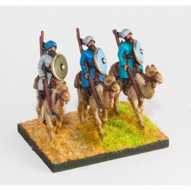 Arab: Camel rider with lance & shield