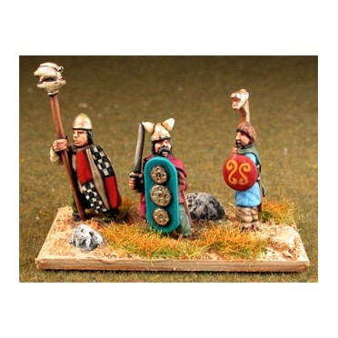 Ancient British / Gallic: Command: Chieftains, Standard Bearers & Hornist