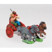 Ancient British / Gallic: Two horse Chariot with driver & chieftain