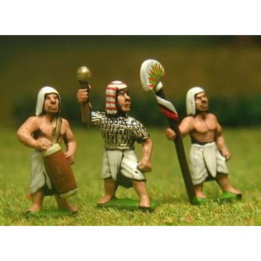 New Kingdom Egyptian: Command: Officers, Standard bearers & drummers