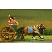 Later New Kingdom Egyptian: General & driver in 2 horse chariot