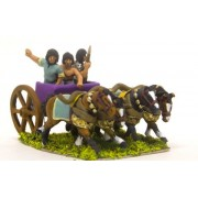 Later New Kingdom Egyptian: General, driver and spearman in 4 horse chariot