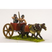 Later New Kingdom Egyptian: Two horse chariot with archer and driver