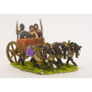 Later New Kingdom Egyptian: Four horse chariot with driver, archer and spearman
