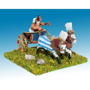 New Kingdom Egyptian: General & driver in two horse chariot